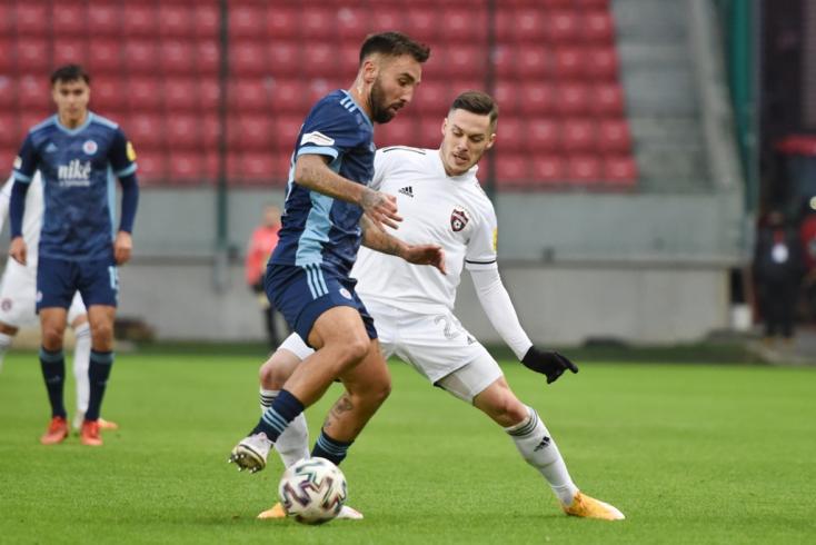 Fortuna Liga, 17. forduló: Emberhátrányban is magabiztosan nyert a Slovan, már öt pontot ver a DAC-ra