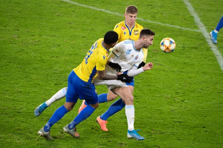 Fortuna Liga, 18. forduló: Biztos előnyben a Slovan, harmadik helyen telel a DAC