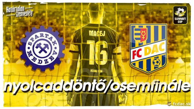 Slovnaft Cup: A DAC következő kupaellenfele a sorozat meglepetéscsapata lesz