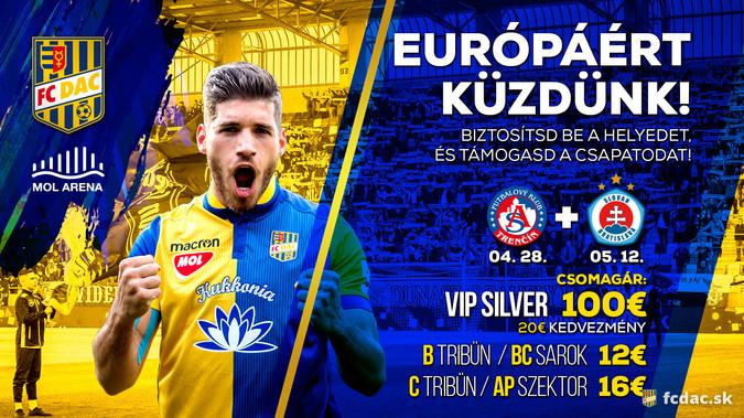 DAC-Trencsén és DAC-Slovan: megkezdődött a jegyárusítás!