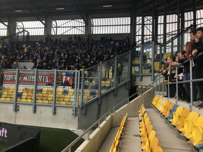 DAC-Slovan: Megint ment a seggmutogatás a vendégszektorban (FOTÓ)