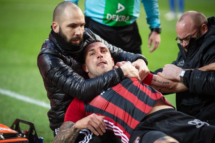 A DAC-Spartak mérkőzés hajrájában megsérülő nagyszombati játékos meg akarta verni a csapattársait