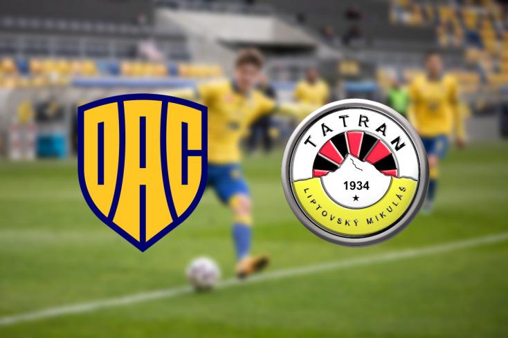 Fortuna Liga: FC DAC 1904 – MFK Tatran Liptovský Mikuláš 3:1 (Online)