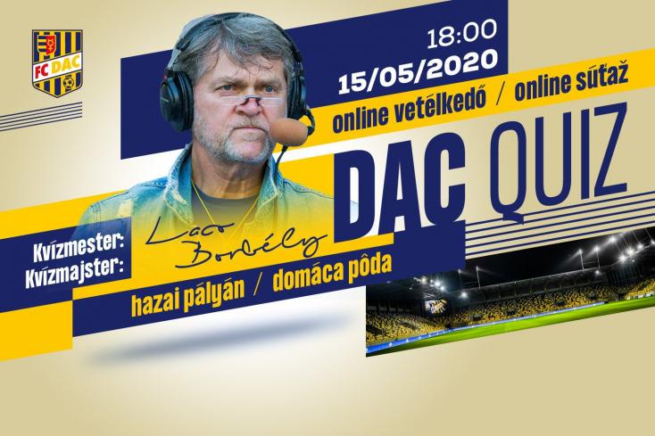 Új kvízt indít aDAC, amelynek holnapi adásában Borbély Laco lesz akvízmester. Magyarul!