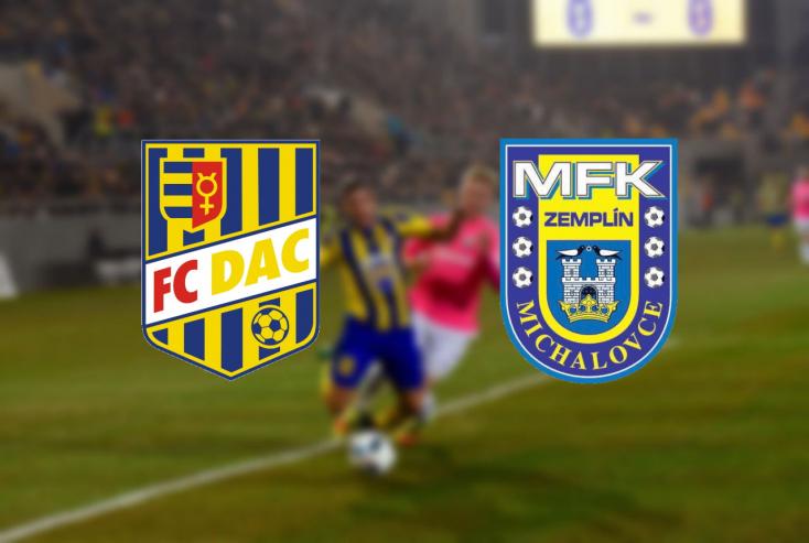 Fortuna Liga: FC DAC 1904 – Zemplín Michalovce 4:1 (Online)
