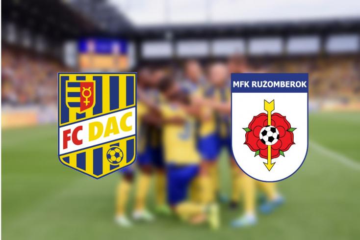 Fortuna Liga: FC DAC 1904 – MKF Ružomberok 3:0 (Online)