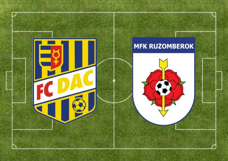 Fortuna Liga: FC DAC 1904 – MFK Ružomberok 1:1 (Online)