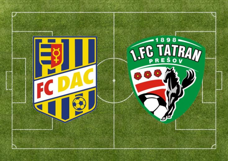 Fortuna Liga:  FC DAC 1904 – Tatran Prešov 0:0 (Online)
