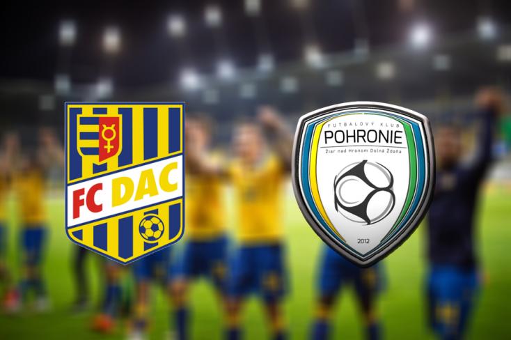 Fortuna Liga: FC DAC 1904 – FK Pohronie 0:0 (Online)