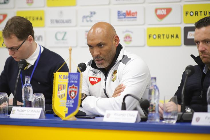 """DAC-Trnava – Hélder: """"Megmutatkozott, hogy már a harmadik mérkőzésünket játszottuk egy hét alatt"""""""