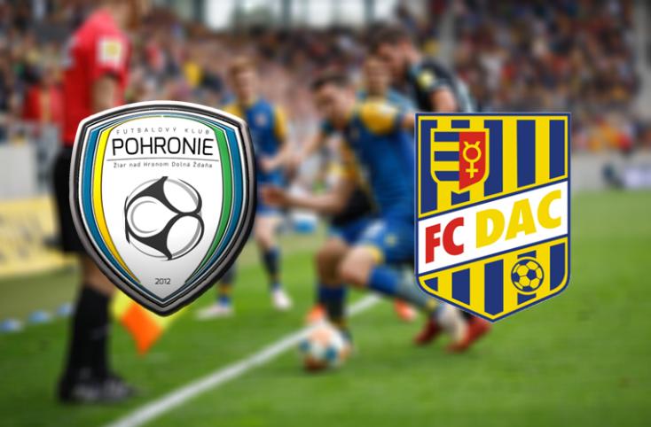 Fortuna Liga: FK Pohronie - FC DAC 1904 0:2 (Online)
