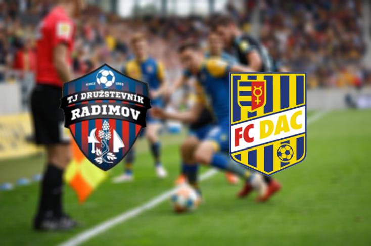 Slovnaft Cup: TJ Družstevník Radimov - FC DAC 1904 0:2 (Online)