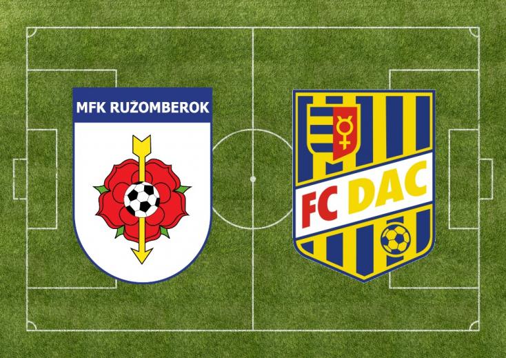 Fortuna Liga: MFK Ružomberok – FC DAC 1904 1:1 (Online)