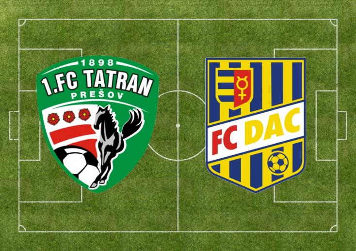 Fortuna Liga: Tatran Prešov – FC DAC 1904 1:1 (Online)